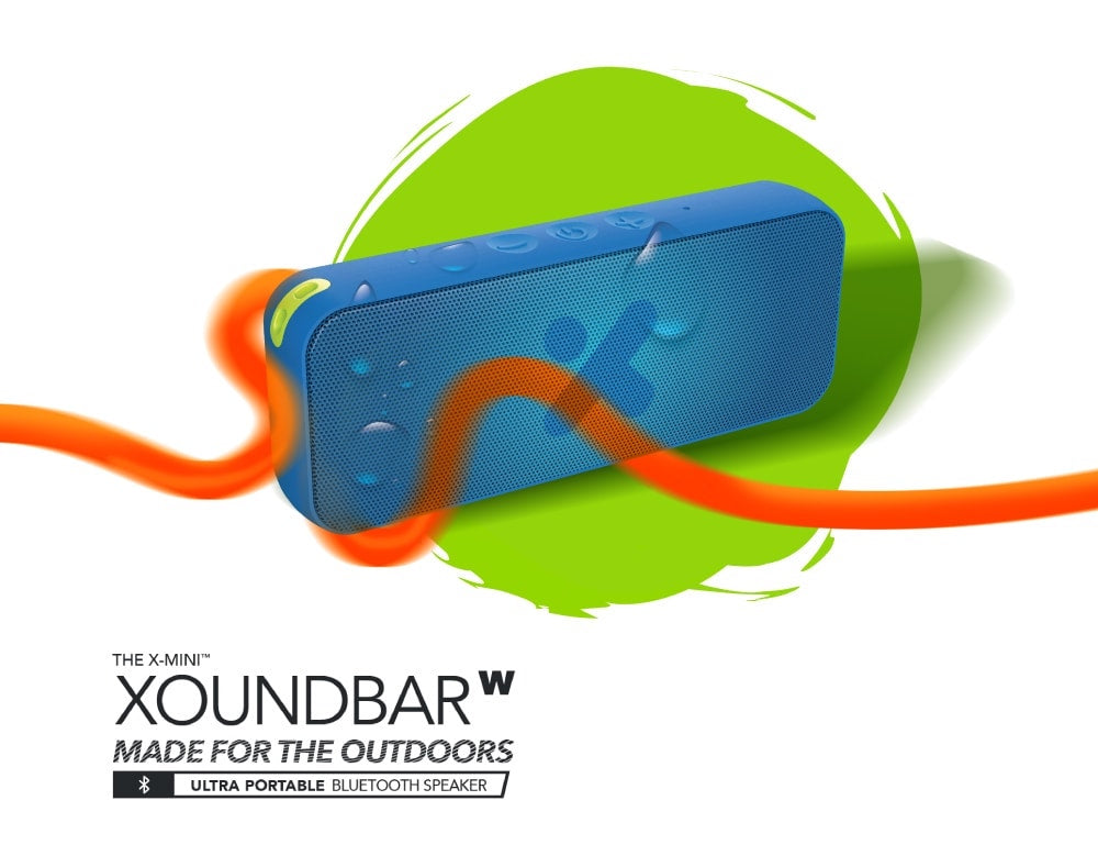 X-mini-Xoundbar-W-Waterproof-Bluetooth-Portable-Stereo-Speaker