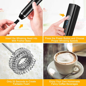 Rechargeable Electric Egg Beater Mini Handle Kitchen Tools