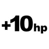 +10hp racing horsepower decal sticker