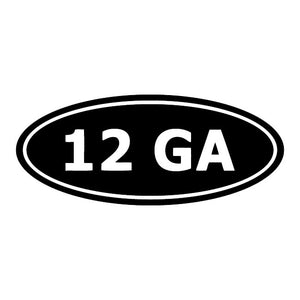 12 gauge ammo decal sticker