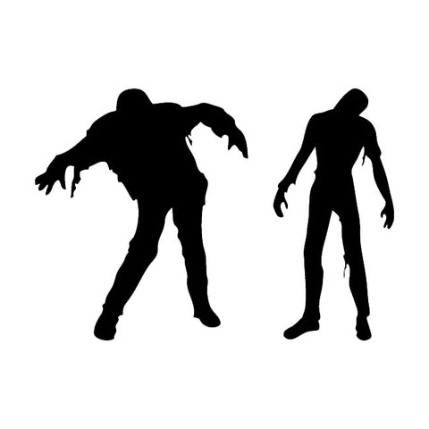 2 zombies halloween couple decal sticker