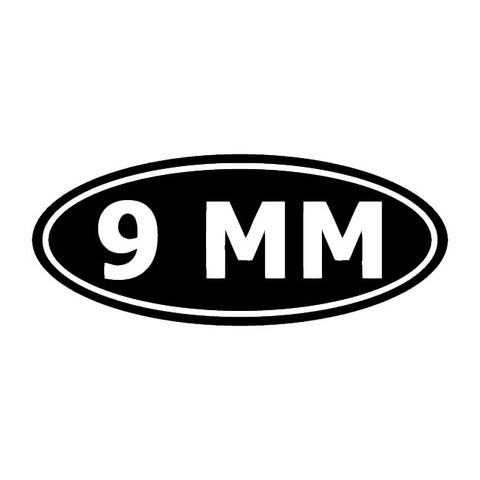 9 mm ammo decal sticker
