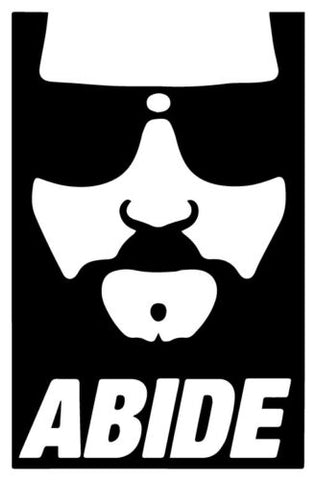 Abide vinyl decal sticker Big Lebowski cult cohen brothers