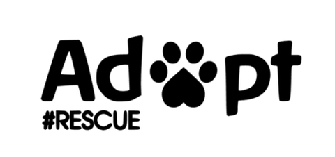 Adopt #Rescue Dog or Cat Decal  Sticker Dog Car Decal Cat Car Decal