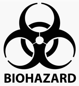 Biohazard warning die cut vinyl decal oracal logo car window sticker phone