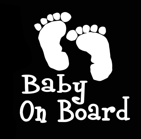 Baby on Board Decal feet
