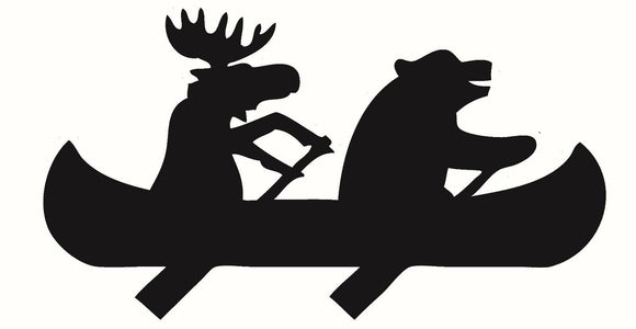 Bear Moose & Canoe Vinyl Decal Sticker For Car or Truck Windows Laptop