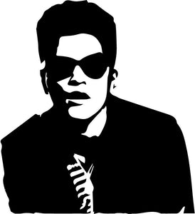 Bruno Mars vinyl decal sticker singer 24k finesse that's what i like