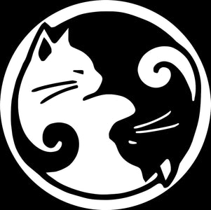 CAT YING YANG window decal 4