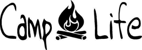 Camp Life with campfire vinyl decal sticker camping