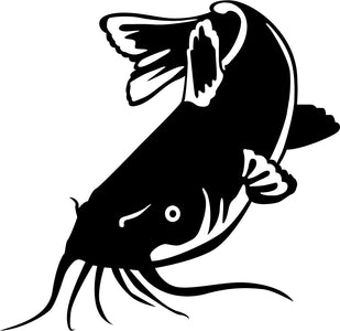 Catfish Fish Window Car Truck Wall Sticker Decal