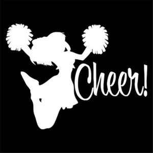Cheerleading Sports Vinyl Decal Car Window Door Girl's Room Wall Art Stickers