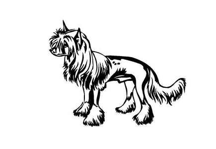 Chinese Crested Dog Decal Chinese Crested Dog Breed Decal Chinese Crested Vinyl Decal Custom Car Decal Dog lovers Chinese Crested decal