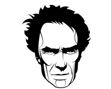 Clint Eastwood Face Head Decal