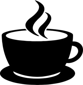 Coffee Cup Vinyl Car Window Laptop Decal Sticker