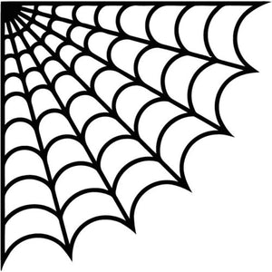 Corner spider web vinyl decal halloween horror sticker decoration october
