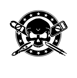 Electrician Crossbones Decal electricians skull & bones decal electrical sticker