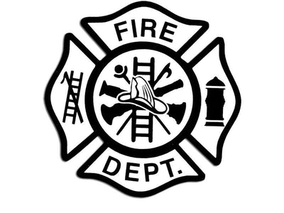 Fire Department Maltese Cross Sticker decal firefighter fireman