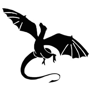 Flying Dragon with Wings Sticker Vinyl Car Window Wall Motorcycle Auto Decal