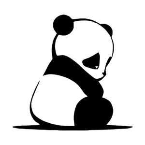 Funny Sad Panda Animal Car Laptop Window Door Bumper Wall Vinyl Decal Sticker