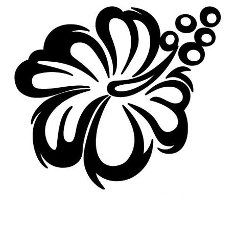 HIBISCUS FLOWER HAWAII ALOHA HAWAIIAN SORREL VINYL DECAL STICKER