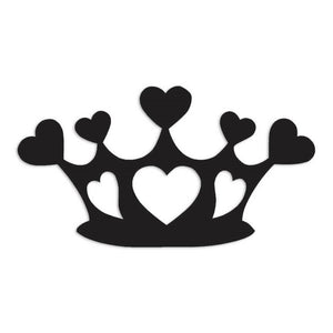 Heart Crown Art Decal Sticker
