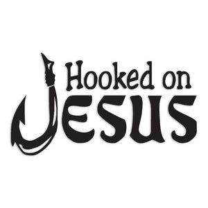 Hooked On Jesus Fishing Decal Sticker
