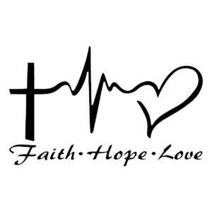 Jesus Love Window Door Car Sticker Laptop Truck Black Vinyl Decal Sticker Decor