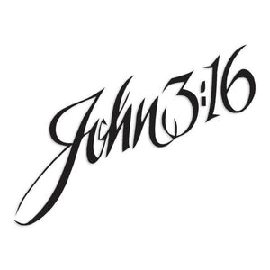 John 316 Cursive Decal Sticker