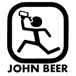 John Beer John Deere Parody Decal Sticker