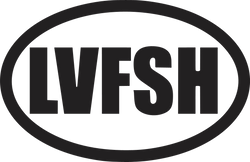 LVFSH Love Fishing Vinyl Decal Sticker text
