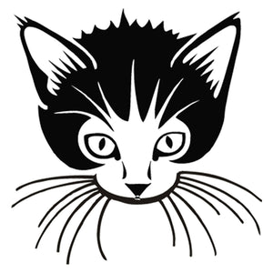 Lovely Kitten Cat Face Vinyl Sticker Car Bumper Window Laptop Door Decor Decal