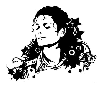 Micheal Jackson Decal Vinyl Truck Car Sticker Music Rock Bands