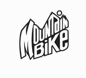 Mountain Bike Biking Dew Vinyl Die Cut Car Decal Sticker