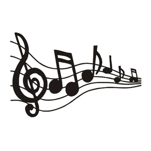 Musical Notes Pattern Decal Car Piano Guitar Wall Laptop Vinyl Sticker Decor