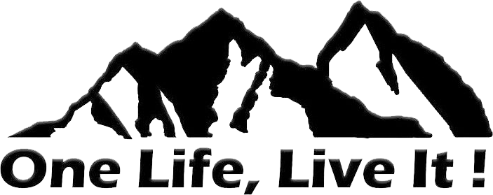 ONE LIFE LIVE IT Off Road Mountain Silhouette Car Sticker Window