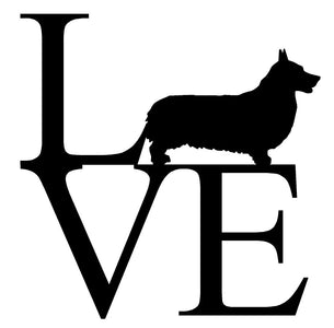 PEMBROOK CORGI LOVE Vinyl Decal Window Sticker