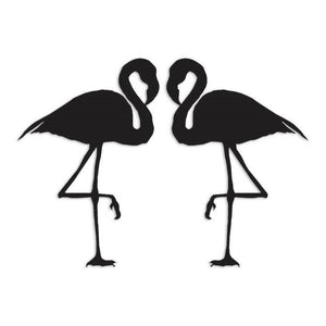 Pair of Flamingos Decal Sticker
