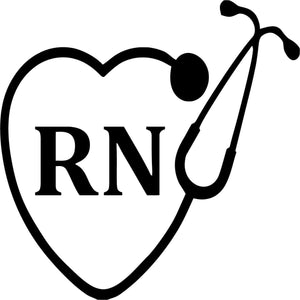 RN Nurse Stethoscope Heart Vinyl Car Window Laptop Decal Sticker