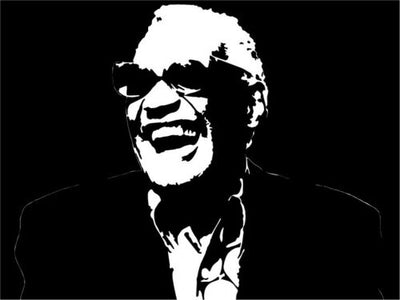 Ray Charles vinyl decal sticker piano rock and roll classic