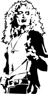 Robert Plant vinyl decal sticker led zeppelin when the levy breaks classic rock