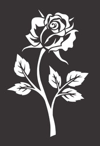 Rose Flower Die Cut Vinyl Window Decal Sticker for Car Truck