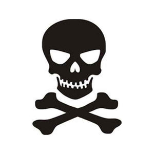 Skull n Crossbones Sticker Vinyl Decal window laptop jeep truck iphone Oracal
