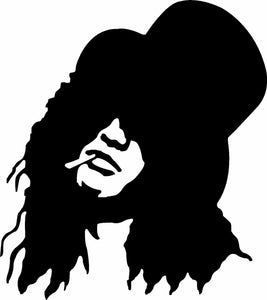 Slash Guns n Roses vinyl sticker decal