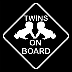 Twins baby on board