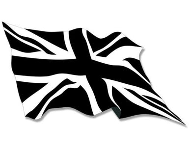 WAVING Black Jack Flag Sticker decal england uk britain british union