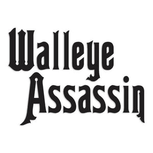 Walleye Assassin Fishing Decal Sticker