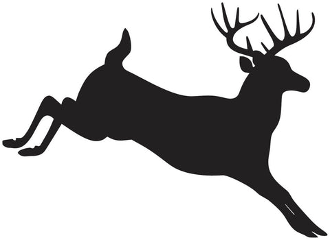 White tailed deer jumping vinyl decal sticker
