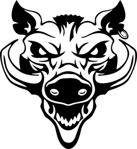 Wild Pig Boar Razorback Hog Head Warthog JDM Auto Car Vinyl Wall Decal Sticker