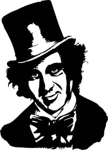Willy Wonka vinyl decal sticker Gene Wilder roald dahl